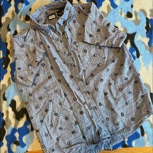 Boys Star Wars Button Up Shirt